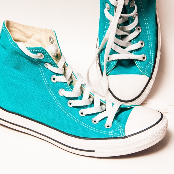 675bf50ecd1f33 Converse Shoes - Mediterranean Blue Converse Hi Top Sneakers Shoes